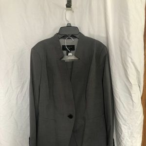 NWT Charcoal gray suit jacket+pencil skirt 12P